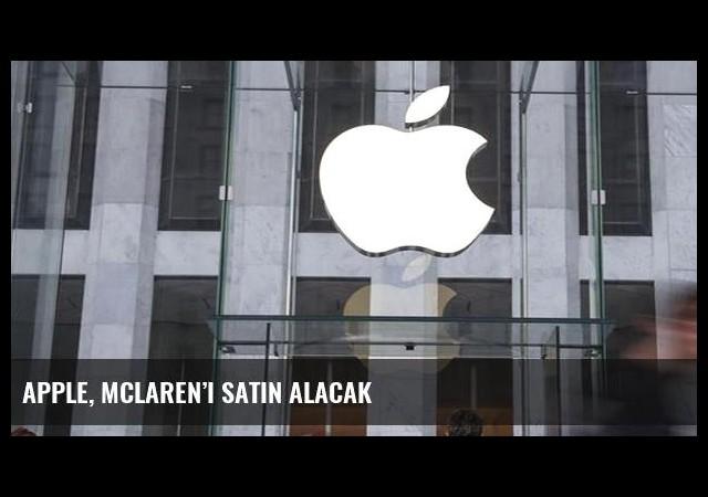Apple, McLaren'i satın alacak