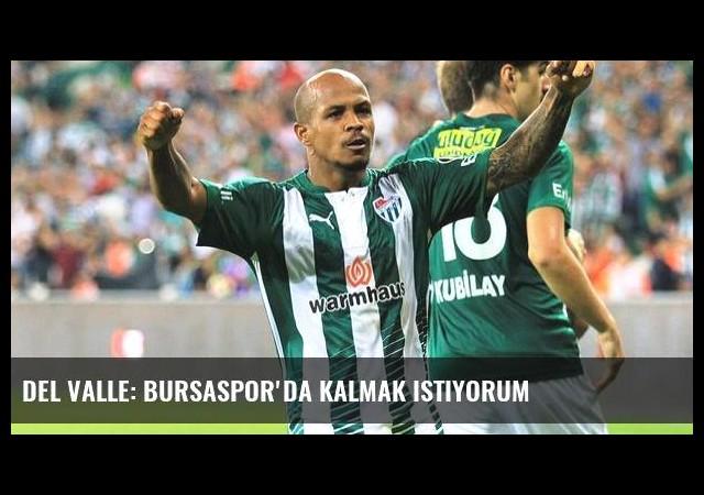 Del Valle: Bursaspor'da kalmak istiyorum