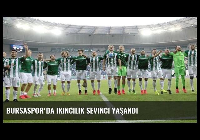 Bursaspor'da ikincilik sevinci yaşandı