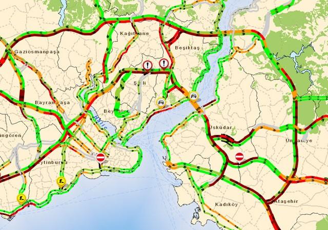 İstanbul'da pazartesi trafiği