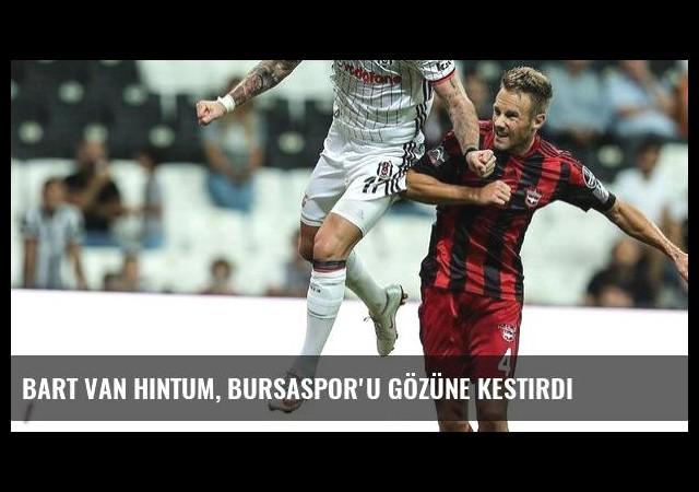 Bart Van Hintum, Bursaspor'u gözüne kestirdi