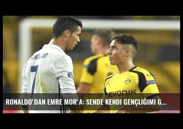 Ronaldo'dan Emre Mor'a: Sende kendi gençliğimi görüyorum
