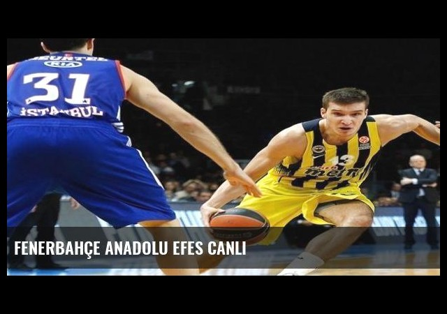 Fenerbahçe Anadolu Efes canlı