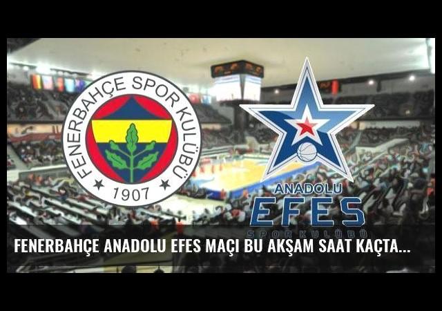 Fenerbahçe Anadolu Efes maçı bu akşam saat kaçta hangi kanalda, şifreli mi?