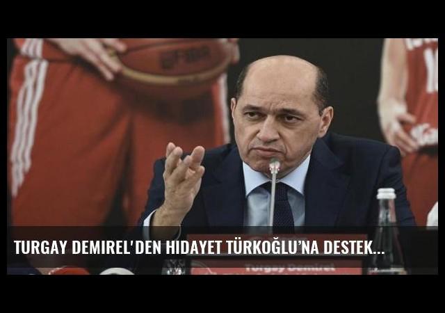 Turgay Demirel'den Hidayet Türkoğlu'na destek