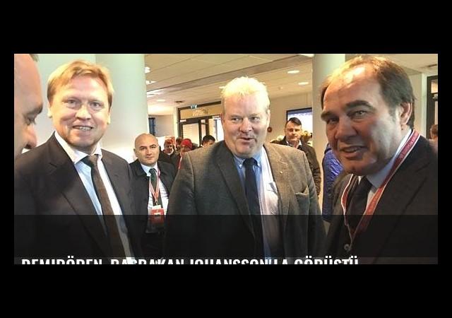 Demirören, Başbakan Johansson'la görüştü