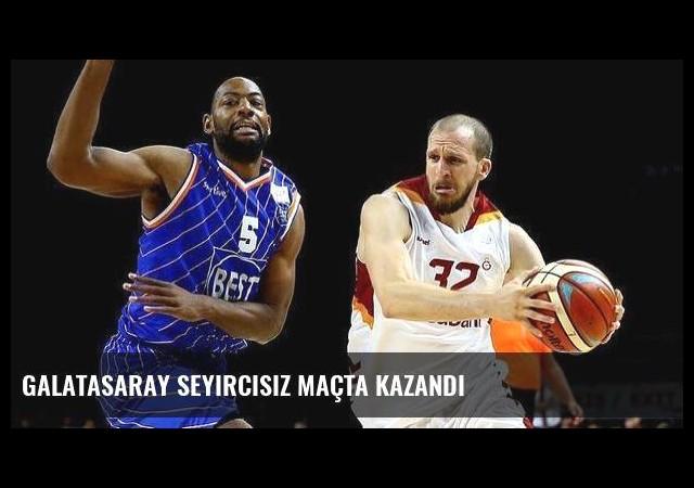 Galatasaray seyircisiz maçta kazandı