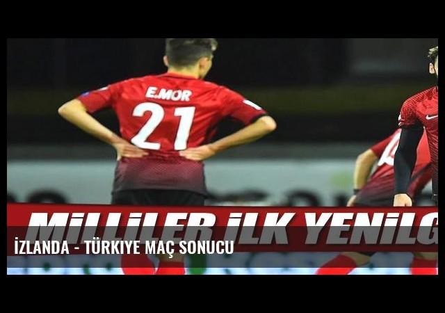 İzlanda - Türkiye maç sonucu
