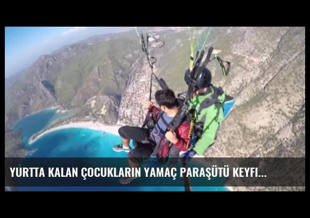 Yurtta Kalan Çocukların Yamaç Paraşütü Keyfi