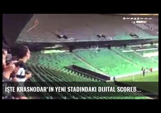 İşte Krasnodar'ın Yeni Stadındaki Dijital Scoreboard
