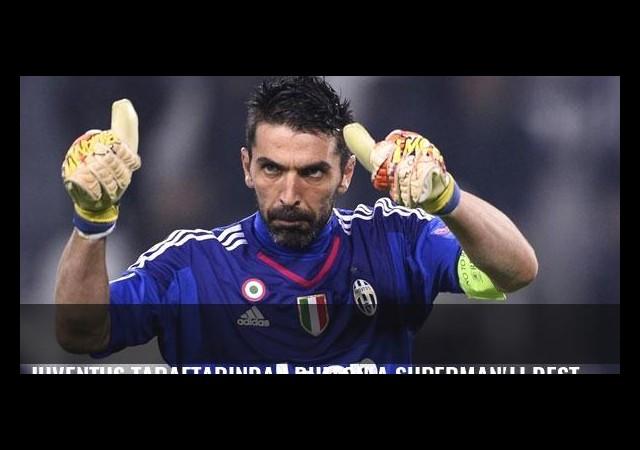 Juventus taraftarından Buffon'a Superman'lı destek