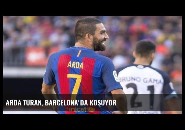 Arda Turan, Barcelona'da koşuyor