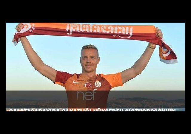 Galatasaray'da sakatlığı nükseden Sigthorsson'un dönüşü uzadı