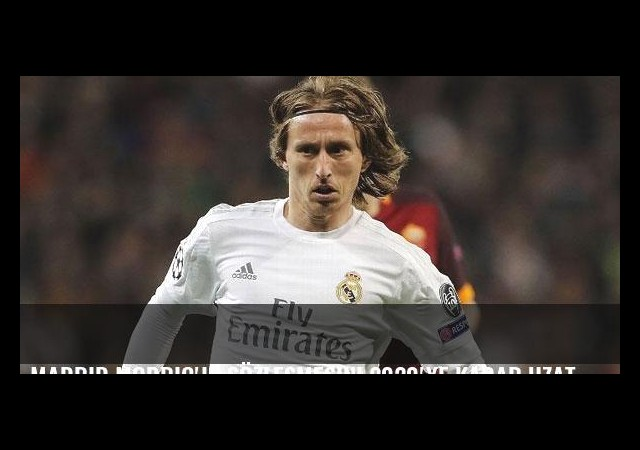 Madrid Modric'in sözleşmesini 2020'ye kadar uzattı