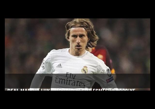 Real Madrid Luka Modric'in sözleşmesini 2020'ye kadar uzattı