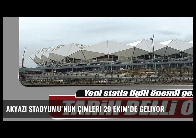 Akyazı Stadyumu'nun çimleri 29 Ekim'de geliyor