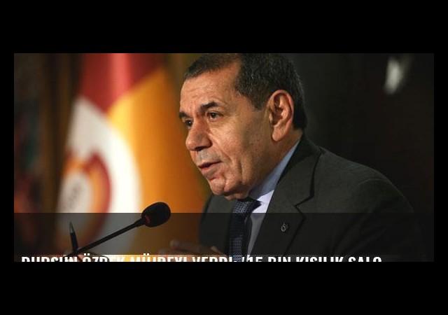 Dursun Özbek müjdeyi verdi: '15 bin kişilik salona başlıyoruz'