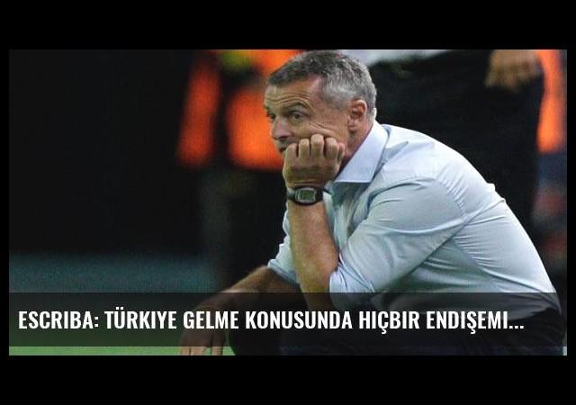 Escriba: Türkiye gelme konusunda hiçbir endişemiz olmadı