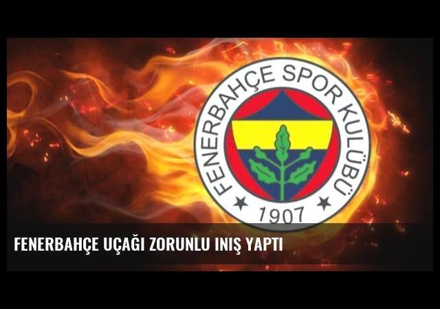 Fenerbahçe uçağı zorunlu iniş yaptı