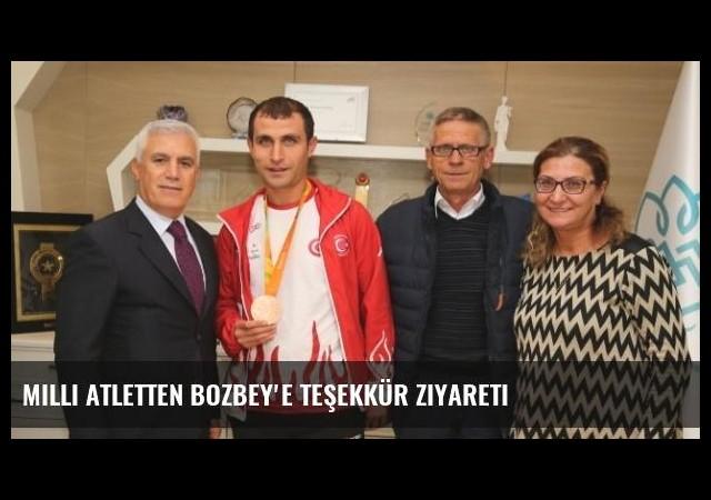 Milli Atletten Bozbey'e Teşekkür Ziyareti