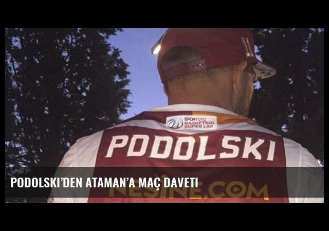 Podolski'den Ataman'a maç daveti