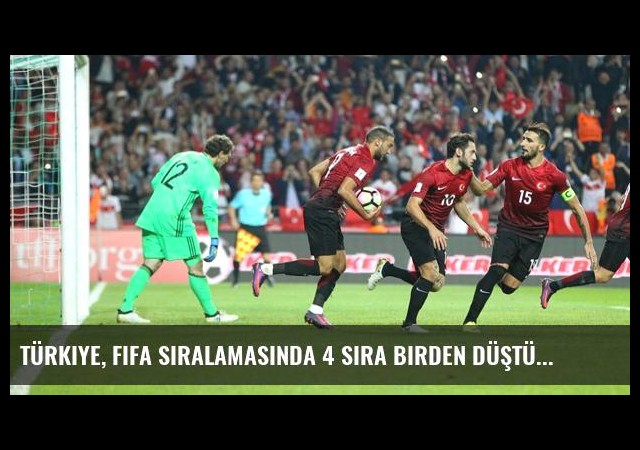 Türkiye, FIFA Sıralamasında 4 Sıra Birden Düştü