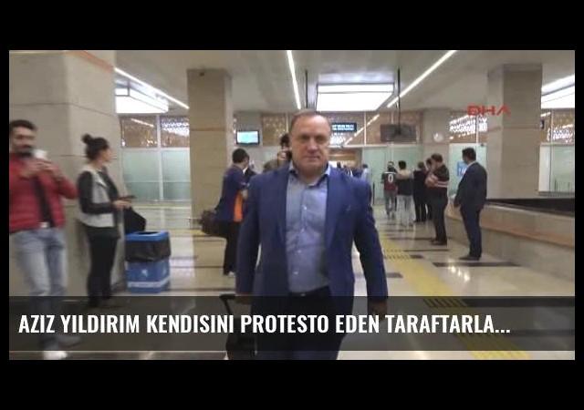 Aziz Yıldırım Kendisini Protesto Eden Taraftarları Alkışladı