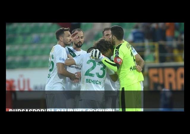 Bursaspor'da galibiyet coşkusu