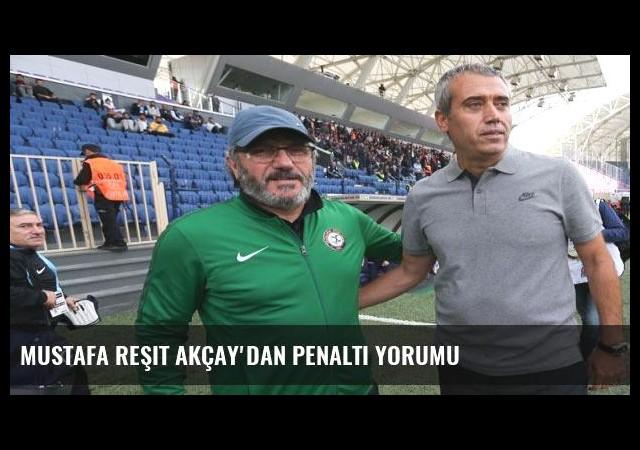 Mustafa Reşit Akçay'dan penaltı yorumu
