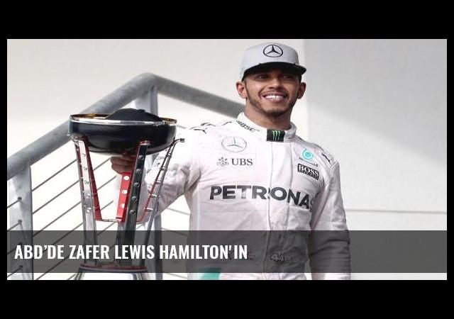 ABD'de zafer Lewis Hamilton'ın