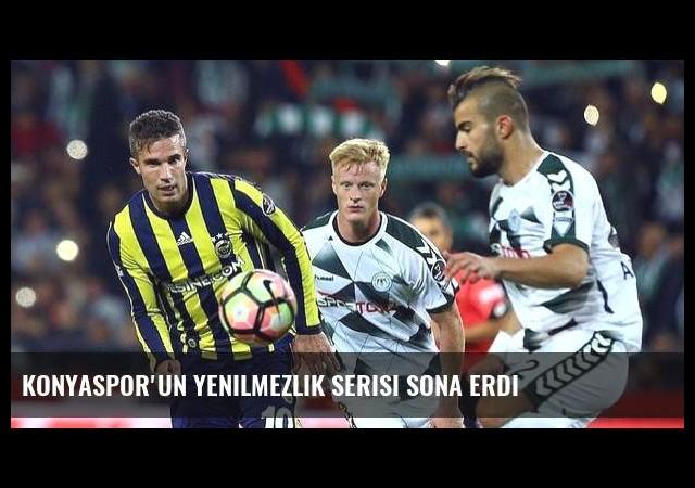 Konyaspor'un yenilmezlik serisi sona erdi