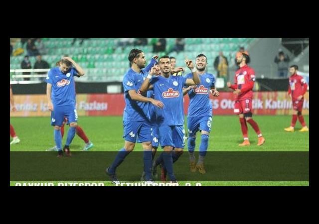 Çaykur Rizespor - Fethiyespor: 3-0