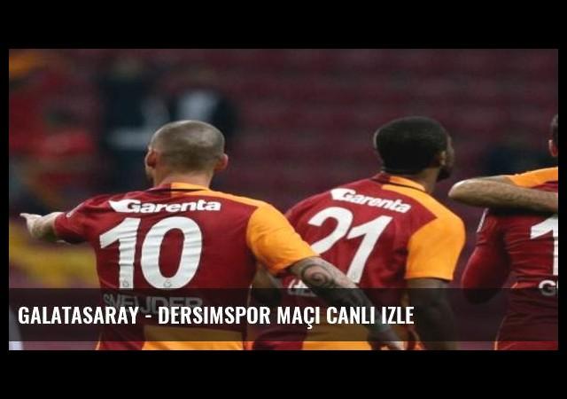 Galatasaray - Dersimspor maçı canlı izle