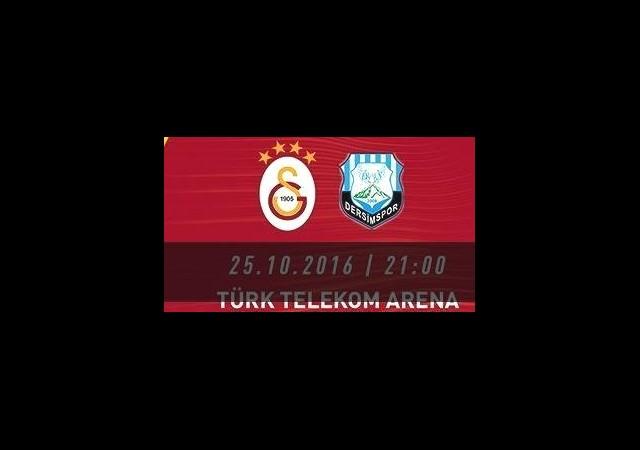 Galatasaray Dersimspor maçı hangi kanalda saat kaçta canlı yayınlanacak?