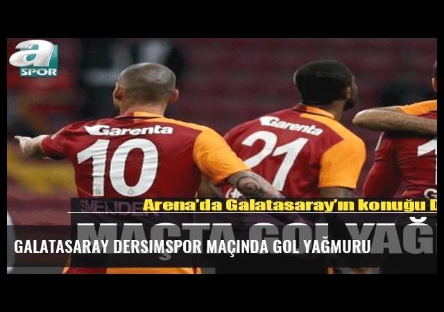 Galatasaray Dersimspor maçında gol yağmuru