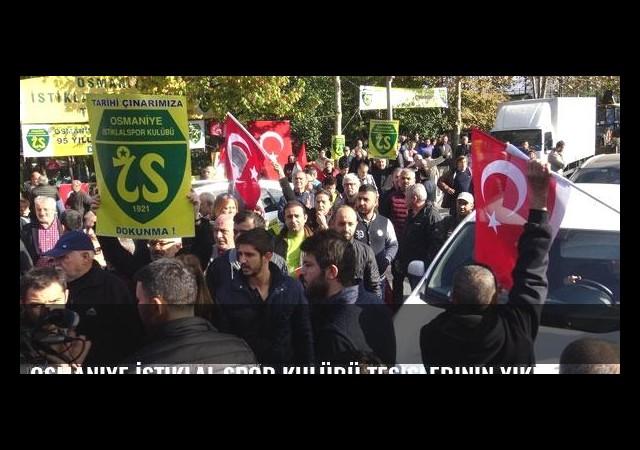 Osmaniye İstiklal Spor Kulübü tesislerinin yıkımını halk engelledi