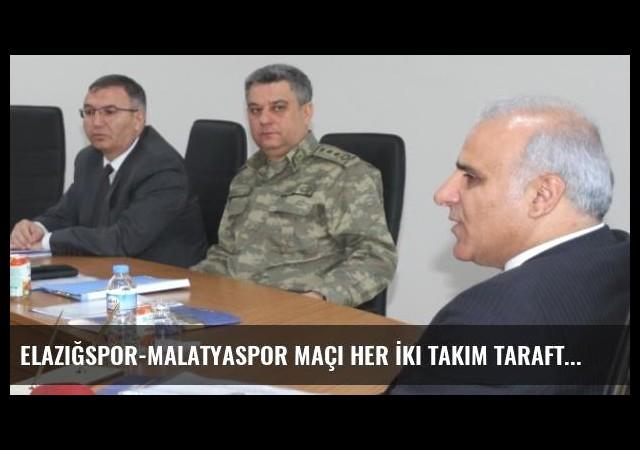 Elazığspor-Malatyaspor Maçı Her İki Takım Taraftarına Açıldı