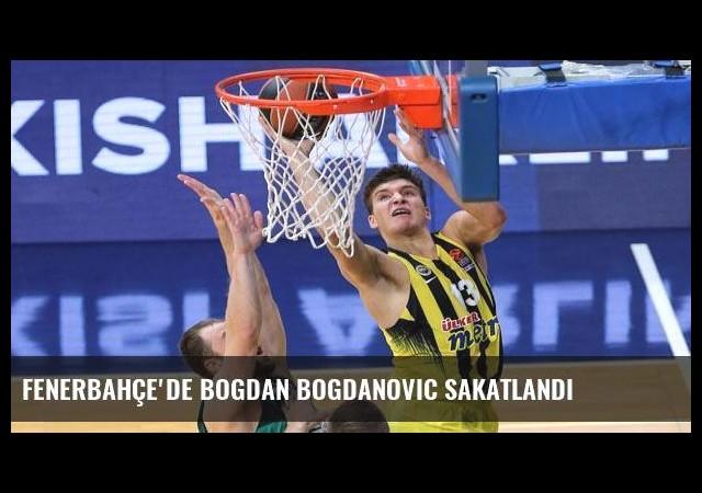 Fenerbahçe'de Bogdan Bogdanovic sakatlandı