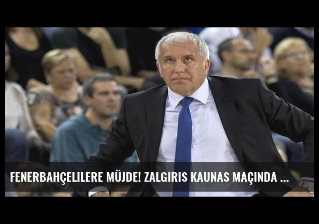 Fenerbahçelilere müjde! Zalgiris Kaunas maçında şifre kalktı!