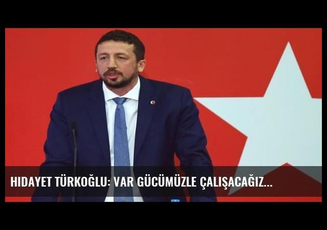 Hidayet Türkoğlu: Var gücümüzle çalışacağız