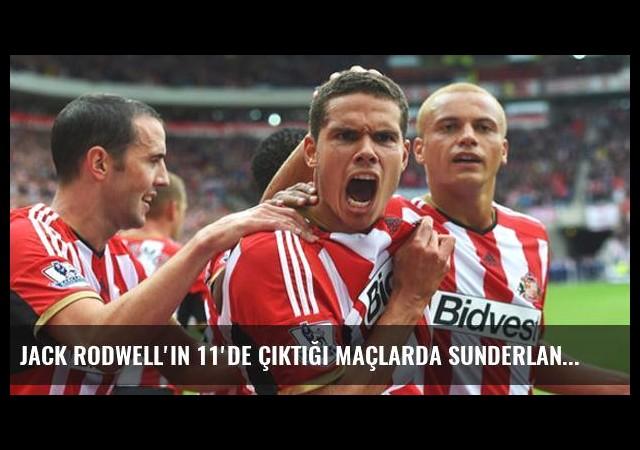 Jack Rodwell'in 11'de Çıktığı Maçlarda Sunderland Kazanamıyor