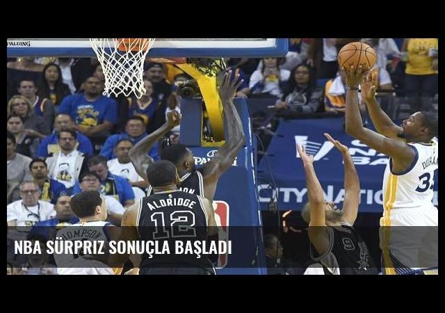 NBA sürpriz sonuçla başladı