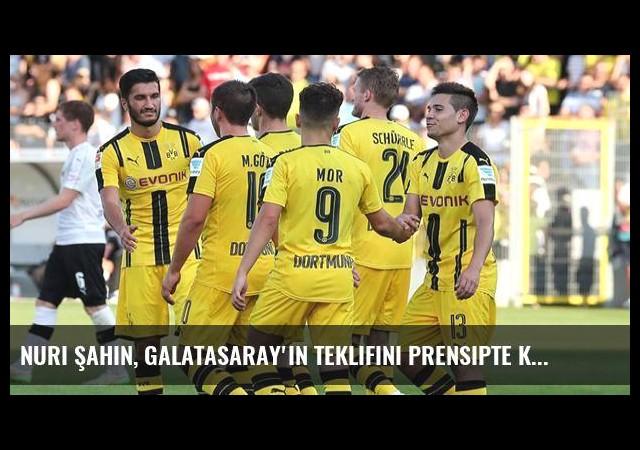 Nuri Şahin, Galatasaray'ın Teklifini Prensipte Kabul Etti
