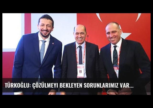 Türkoğlu: Çözülmeyi bekleyen sorunlarımız var