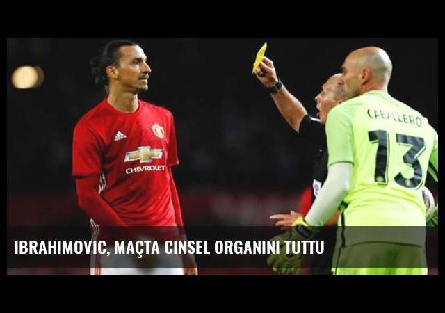 Ibrahimovic, Maçta Cinsel Organını Tuttu