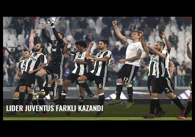 Lider Juventus farklı kazandı