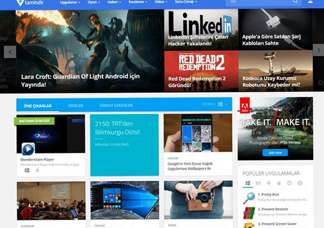 1 milyar indirilmeye aracılık eden Tamindir.com yenilendi