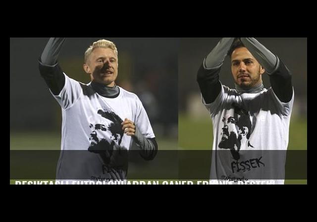 Beşiktaşlı futbolculardan Caner Erkin'e destek!