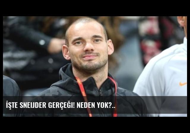 İşte Sneijder Gerçeği! Neden Yok?..