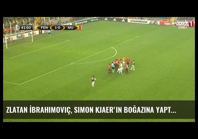 Zlatan İbrahimoviç, Simon Kjaer'in Boğazına Yaptı, Ortam Kızıştı